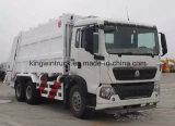 Caminhão de lixo do compressor do tipo de Sinotruk/caminhão da recusa para o compressor