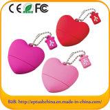 Corazón forma USB Flash Drive unidad de la pluma del corazón (eg066)