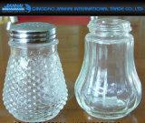 Agitatore di vetro rotondo del pepe del vaso del condimento per la cottura ed il barbecue