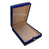 Коробка роскошного подарка ювелирных изделий Silk ткани пластичного упаковывая
