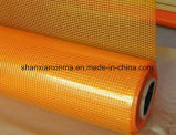 Color reforzado concreto de la naranja del acoplamiento el 1X50m 160GSM 5X5mesh de la fibra de vidrio de la fibra