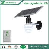 Luz solar al aire libre del jardín de la calle del sensor de movimiento 6-12W de Solargreen LED