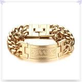 Pulsera de la identificación de la pulsera del acero inoxidable de la joyería de la manera (HR366)
