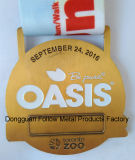 Médaille de récompense de souvenir, oasis 10k, passage de zoo, module de finition, bronze antique