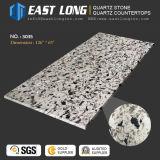 Pierre de quartz en carrara artificielle pour la table de cuisson / plaqué de cuisine avec surface solide poli / SGS / Ce (anti-corrosion)