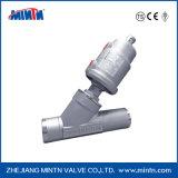 Het Roestvrij staal van Ss304 Ss316/de Pneumatische Klep van de Zuiger van de Hoek Inox voor Hete Verkoop