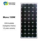 Самая Лучшая Панель Солнечных Батарей Качества 150W Moнo с Рангом Высокой Эффективности Фотоэлемент