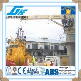 guindaste telescópico hidráulico do fuzileiro naval da plataforma do navio do crescimento 10t