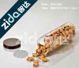 Bouteille cosmétique claire de plastique de grand dos d'animal familier