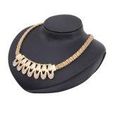 Insieme caldo dei monili della lega degli anelli dei braccialetti degli orecchini della collana di modo