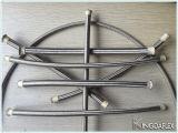 Intervallo a temperatura elevata standard di SAE intrecciato con il materiale dell'acciaio inossidabile PTFE (tubo flessibile di Teflon)