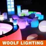더 많은 것 300의 디자인 LED 플라스틱 가구 LED 정원 입방체 의자