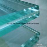 La venta al por mayor curvada/dobló el pasamano de cristal de la escalera del carril Tempered de la escalera