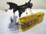 Los regalos creativos del USB transforman el mecanismo impulsor del flash del USB con insignia de encargo
