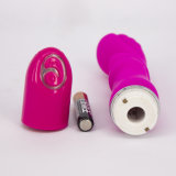 Gutes Price Pink Purple Safe Silicone Love Middle Size Anal Vibrator mit Battery