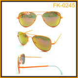 Fk-0245 Anti-Glare Cool retro Kids Metal Pilot Style Sun Eyeglasses Wholesale em China