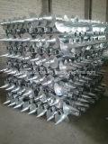 Anclas redondas helicoidales galvanizadas alta calidad del tornillo para el proyecto solar