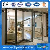 Puertas deslizantes de encargo de aluminio de cristal dobles, puertas de oscilación, puertas de plegamiento, puertas del marco