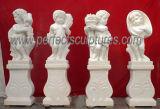 Steinengel-Skulptur-kleine Baby-Engels-Marmorstatue (SY-X004) schnitzen