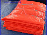 Blau/Schwarzes/orange konkrete aushärtende Zudecke