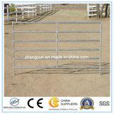 El panel de la cerca de la ganadería del metal