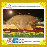 Fontaines carrées de forme de pissenlit avec les lampes colorées
