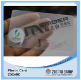 Carte de visite professionnelle de visite transparente d'IDENTIFICATION RF classique du plastique M1 avec FM4428