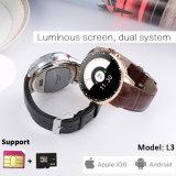 Téléphone intelligent de montre d'écran tactile avec la fonction de Bluetooth (L3)
