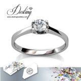 Het Kristal van de Juwelen van het lot van het Geven Swarovski Briljante Ring