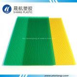 Замороженная доска зеленого желтого поликарбоната пластичная полая