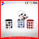 Unterschiedliches Farben-Glasur-Quadrat-keramische Kaffeetasse der Größen-9-11oz