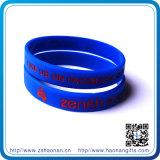 Wristbands poco costosi su ordinazione ecologici del silicone del più nuovo commercio all'ingrosso di stile
