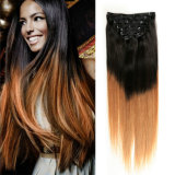 Volles Head 6A Unprocessed brasilianisches Remy Hair Klipp im Menschenhaar Extensions