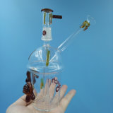 Tubo di acqua di fumo di vetro della tazza portatile della mano