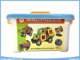 Baustein-Spielwaren-magnetisches Puzzlespiel Mag-98PCS spielt Spielwaren der Klugheit-DIY mit Rad-pädagogischen Spielwaren für Kinder