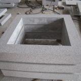 Anillos de lujo de la puerta de la tapa del pilar de la columna de la piedra de la decoración del edificio