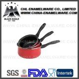 工場卸売によってカスタマイズされるカラー非棒の鋼鉄エナメルの鍋