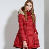Женщины способа куртки зимы вниз верхние греют Parka Jacet шерстей пальто зимы пальто пальто ярдов с капюшоном Cotton-Padded тонкого большое
