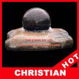 Фонтан шарика гранита фонтана шарика камня фонтана сферы завальцовки