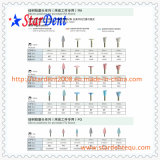 Pulidor dental de goma de la forma de la bala del equipo dental