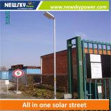 Réverbère solaire Integrated de 20W DEL avec le panneau solaire de batterie
