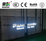 유리제 투명한 발광 다이오드 표시 스크린 게시판 영상 벽 P10