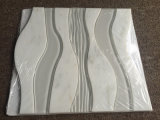 Carrara White Marble Mixed Glass Weave Design Water Jet Mosaic
