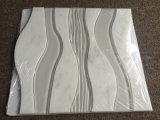 Carrara de mármol blanco de vidrio de tejido mixto Diseño Water Jet mosaico