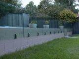자유로운 서 있는 스테인리스 베란다 유리제 방책 또는 측 마운트 유리 난간