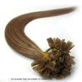 Uの釘の先端のRemy Brazlianの人間の毛髪の拡張