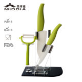 Houseware en céramique pour Kitchen Knife Set avec Holder/Peeler/Cleaver/Fruit Knife
