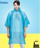 Wegwerfregenmantel ein Zeit-Gebrauch PET Regen-Poncho