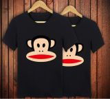 形態上のTシャツカラー人および女性