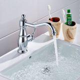 Chrome monté par paquet de taraud de mélangeur de bassin de bassin de salle de bains de robinet en laiton